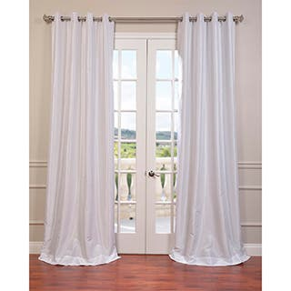 Exclusive Fabrics Textured Dupioni Faux Silk 96-inch Blackout Grommet Curtain Panel https://ak1.ostkcdn.com/images/products/P16915669a.jpg?impolicy=medium