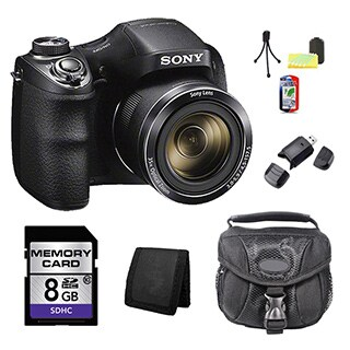 Sony H300 Black Digital Camera 8GB Bundle