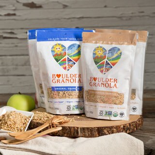 Boulder Granola Organic Gluten-free Original & Vanilla Pecan (Set of 4)