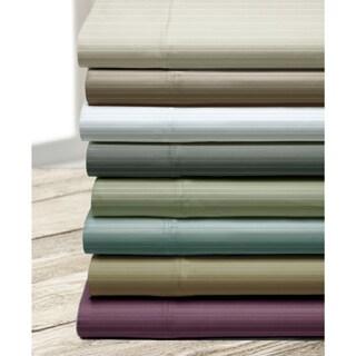 Executive Stripe 800 Thread Count Cotton Blend Sheet Set with Bonus Pillowcases