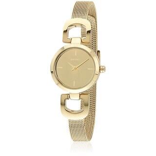 DKNY Women's NY2101 Goldtone D-link Mesh Bracelet Watch