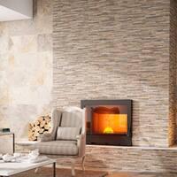 SomerTile 12.5x24.5-inch Muro Ariana Ocre Porcelain Wall Tile (5 tiles/11 sqft.)