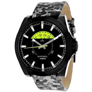 Diesel Men's Arges Grey Mix Combo Leather Quartz Watch
