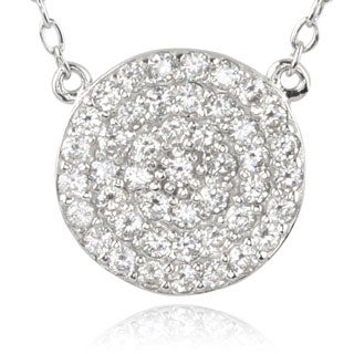 Journee Collection Sterling Silver Cubic Zirconia Round Pendant