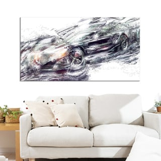 Abstract Black Super Car Small Gallery Wrapped Canvas