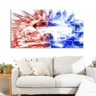 Red and Blue Car Art Small Gallery Wrapped Canvas