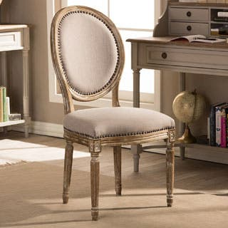 Traditional Beige Fabric Dining Chair by Baxton Studio. Fabric Dining Room   Kitchen Chairs For Less   Overstock com