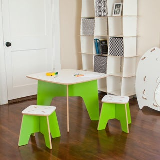 Folding Modern Kids Table and Stool Set
