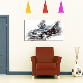 Black Luxury Super Car' Gallery-wrapped Canvas