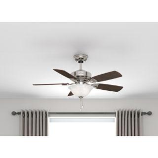 Hunter Fan 52081 Caraway Brushed Nickel Ceiling Fan