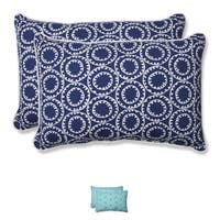 Pillow Perfect Outdoor Ring a Bell Over-sized Rectangular Throw Pillow (Set of 2)