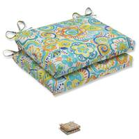 Pillow Perfect Outdoor Bronwood Squared Corners Seat Cushion (Set of 2) - 18.5 x 16 x 3