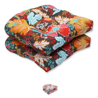 Pillow Perfect Outdoor Suzanne Wicker Seat Cushion (Set of 2)