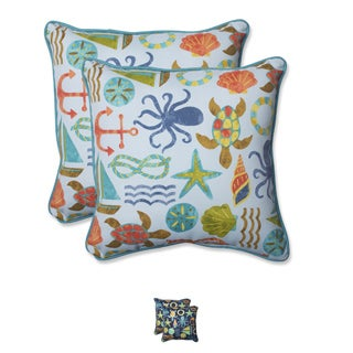 Pillow Perfect Outdoor Seapoint 18.5-inch Throw Pillow (Set of 2)