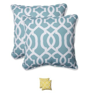 Pillow Perfect Outdoor New Geo 18.5-inch Throw Pillow (Set of 2) (Option: Yellow)