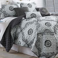 Amraupur Overseas Delany 6-piece Grey Quilt Set