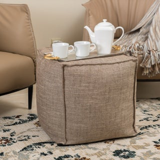 Alder Fabric Cube Ottoman by Christopher Knight Home