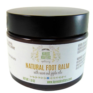 Natural Moisturizing Tea Tree Foot Balm with Neem and Jojoba by Karess Krafters Apothecary