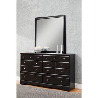 Sandberg Furniture Elena 6-drawer Dresser and Mirror