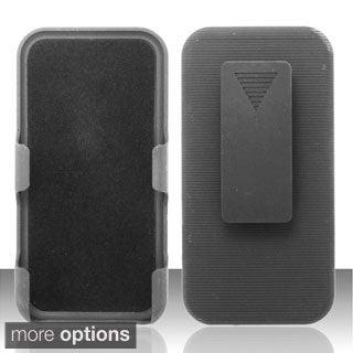 INSTEN Hard Plastic Rubberized Matte Phone Holster Case for Apple iPhone 5/ 5S/ SE