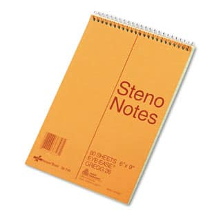 National Brand Standard Spiral Steno Book, Gregg Rule, 6 x 9, Green, 80 Sheets (Pack of 10)|https://ak1.ostkcdn.com/images/products/P16950895a.jpg?impolicy=medium