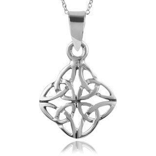 Journee Collection Sterling Silver Celic Knot Pendant