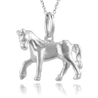 Journee Collection Sterling Silver Horse Pendant