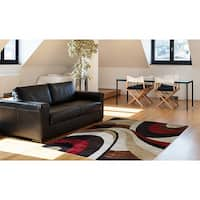 "Home Dynamix Tribeca Collection Contemporary Brown-Red Area Rug (5'2"" x 7'2"")"