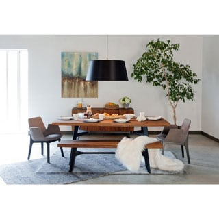 Aurelle Home Solid Planked Dining Table