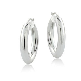 Mondevio Sterling Silver Round Hoop Earrings