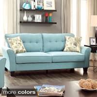 Furniture of America Primavera Modern Linen Sofa