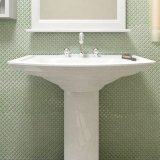 SomerTile 12.375 x 12.375-inch Jewel Light Green Porcelain Mosaic Floor and Wall Tile (Case of 10)