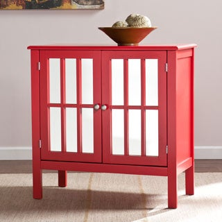 Harper Blvd Parker Red Double-Door Mirrored Cabinet