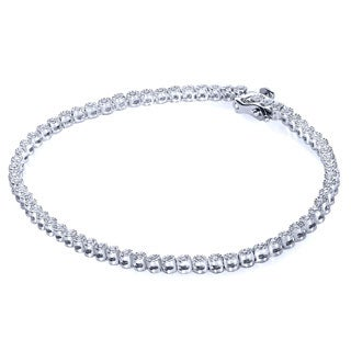 Annello by Kobelli Sterling Silver 1/2ct TDW Round Diamond Bracelet (H-I, I1-I2)