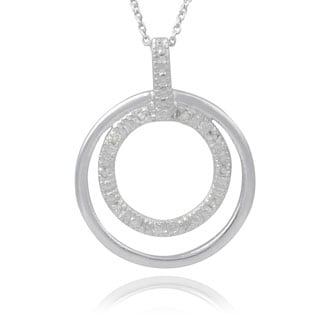 Journee Collection Sterling Silver Diamond Accent Circle Necklace