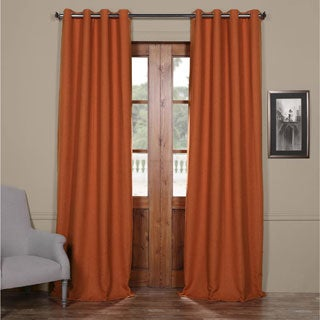Shop Exclusive Fabrics Persimmon Bellino Blackout Curtain