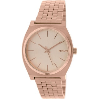 Nixon Men's Time Teller A045897 Rose Goldtone Stainless Steel Quartz Watch