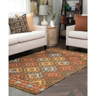 Kosas Home Callista Indoor/ Outdoor Recycled Plastic Kilim Rug (4' x 6')