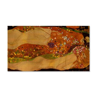 Gallery Direct Gustav Klimt's 'Water Snakes' Print on Wood