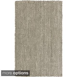 Hand-Woven Abbie Stripe Pattern Jute Rug (3'3 x 5'3)