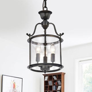 The Gray Barn Calloway Hill Clear Glass 3-light Pendant Chandelier