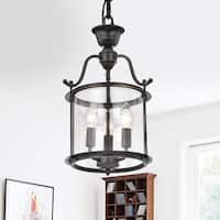 Laurel Creek Adolf Clear Glass 3-light Pendant Chandelier