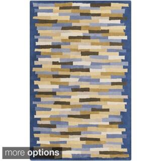 Hand-Tufted Amiyah Geometric Wool Rug (2' x 3')