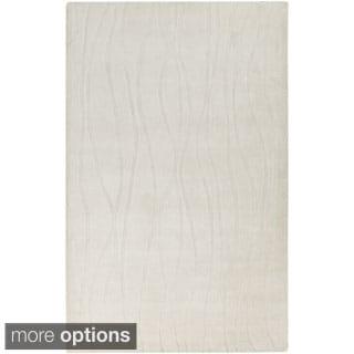 Handmade Ainsley Solid Pattern Indoor Rug (3'3 x 5'3)