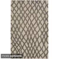 Hand-Woven Addisyn Geometric Wool Area Rug - 8' x 11'