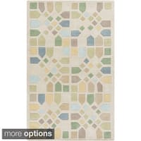 Hand-Tufted Andres Geometric Wool Area Rug - 5' x 8'