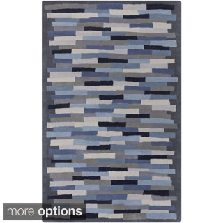 Hand-Tufted Amiyah Geometric Wool Rug (5' x 8')