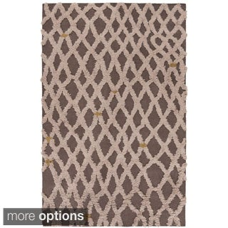 Hand-Woven Addisyn Geometric Wool Rug (5' x 8')