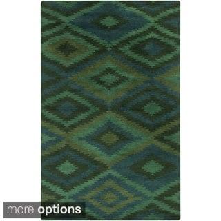 Hand-Knotted Aaliyah Geometric Wool Rug (3'3 x 5'3)