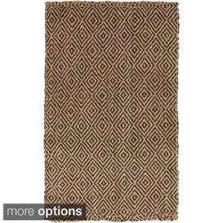 Hand-Woven Ahmad Geometric Pattern Jute Rug (10' x 14')